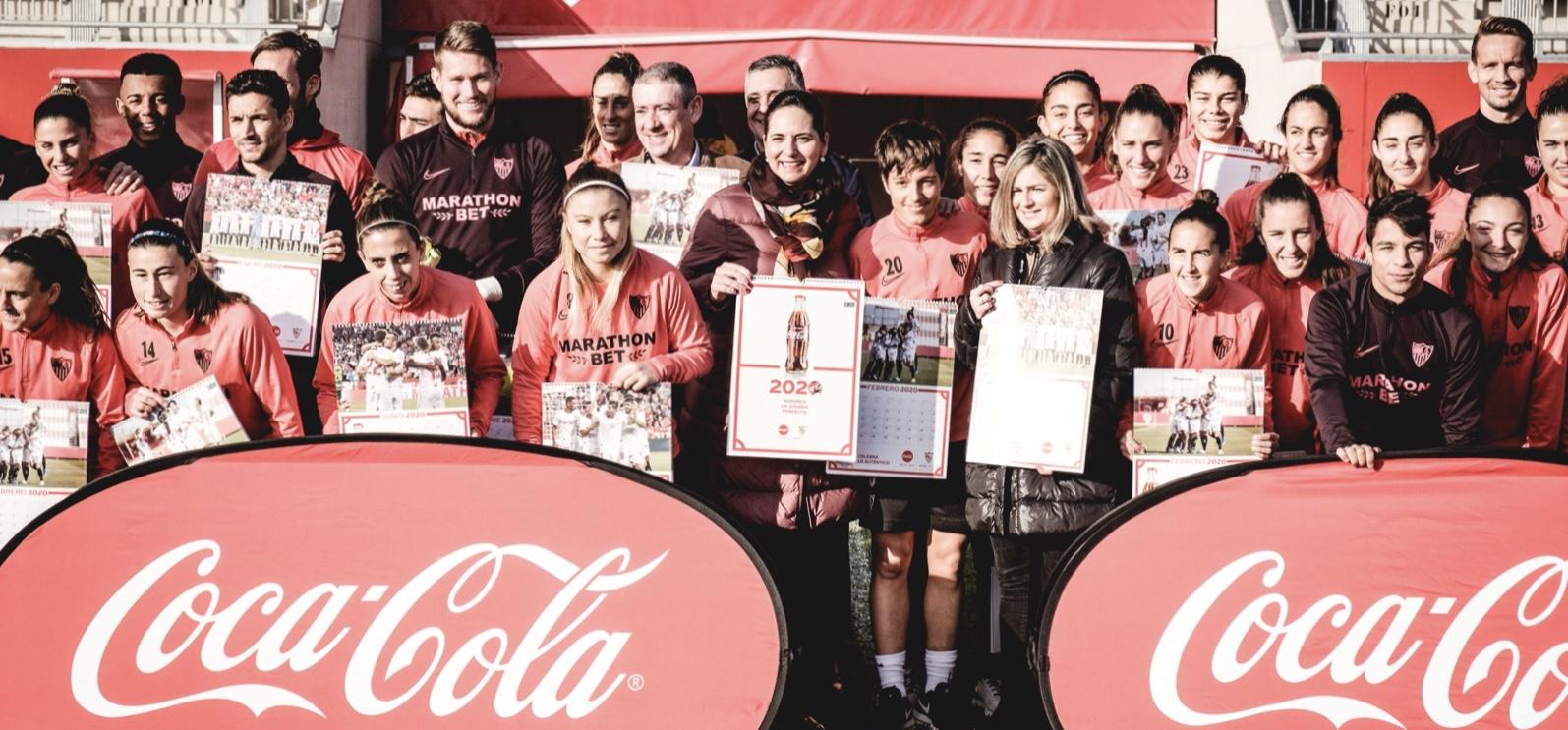 Coca-Cola y el Sevilla FC han editado 7.000 ejemplares de un calendario 2020 conjunto para que disfrutes este 2020 con las jugadores y jugadores del Sevilla
