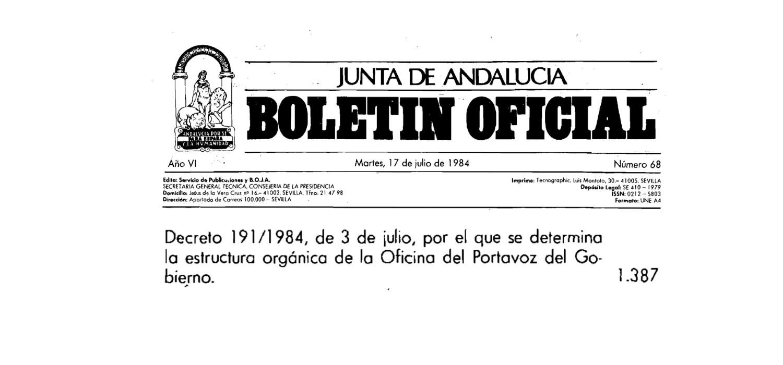 creación oficina del portavoz andalucia