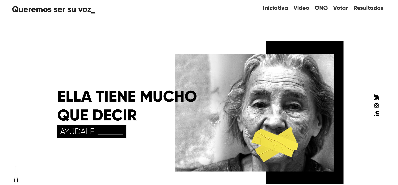 La agencia sevillana Parnaso ha reunido a las diez ONG o fundaciones con menos recursos del país en la plataforma www.queremossersuvoz.org