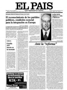 Primera portada El País