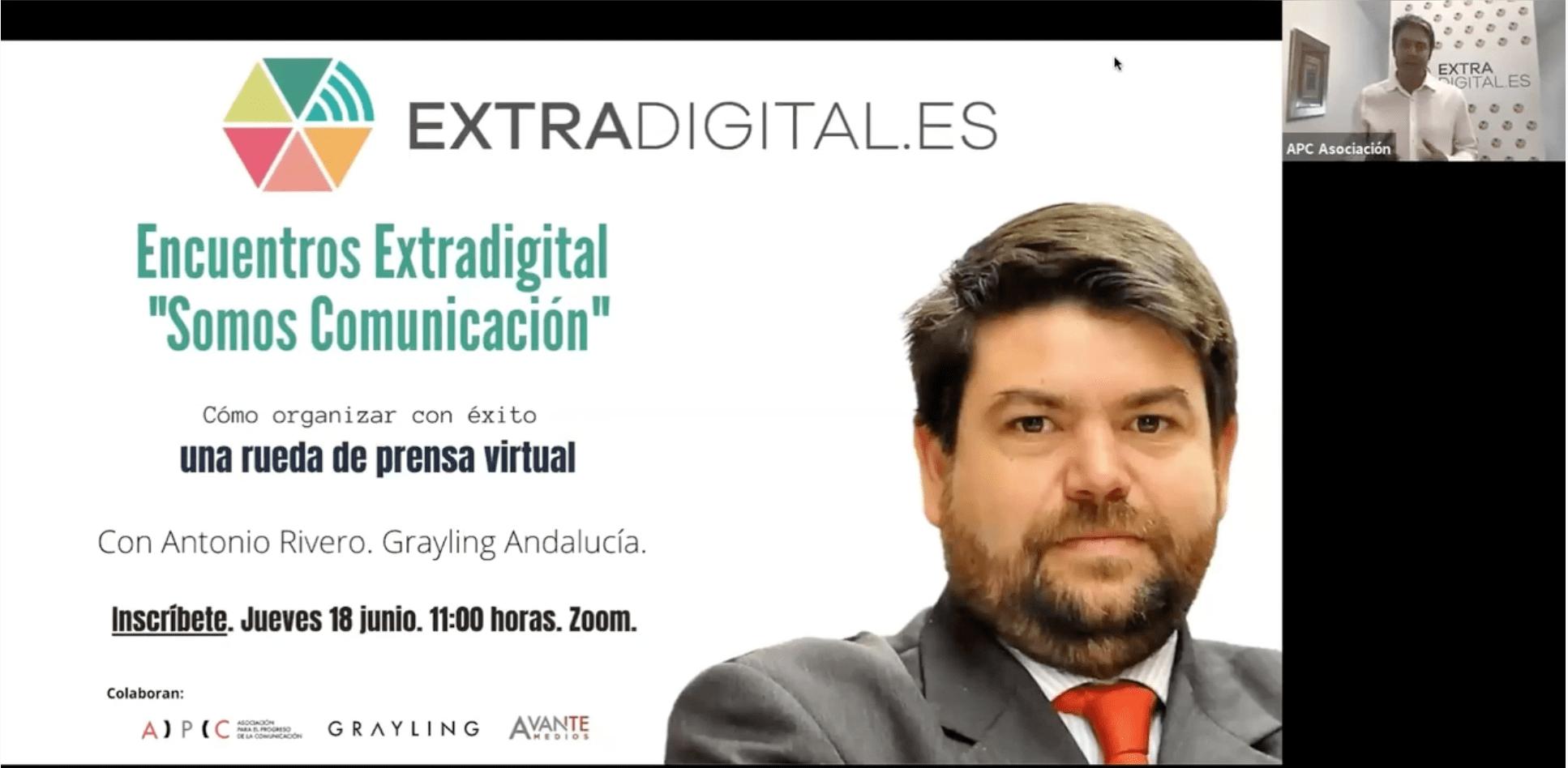 """El consultor estratégico Antonio Rivero ha sido el encargado de inaugurar el Foro """"Somos Comunicación"""" que convoca Extradigital."""