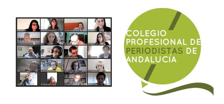 El Colegio de Periodistas de Andalucía ha celebrado su Asamblea, de forma telemática. Los derechos de autor y el COVID las principales línea de trabajo.