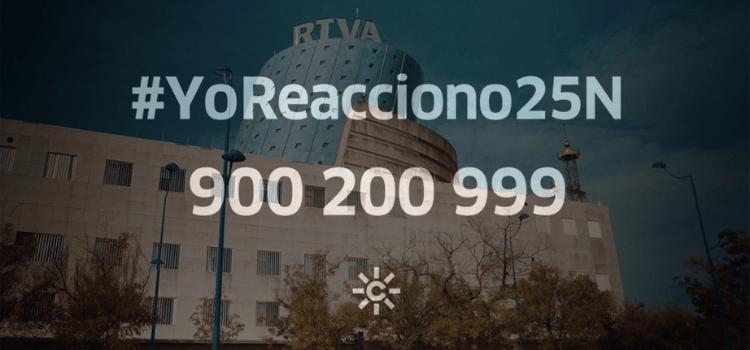 La radiotelevisión pública ha organizado una programación especial en torno al 25-N bajo el lema #YoReacciono25N. Se extenderá una semana.
