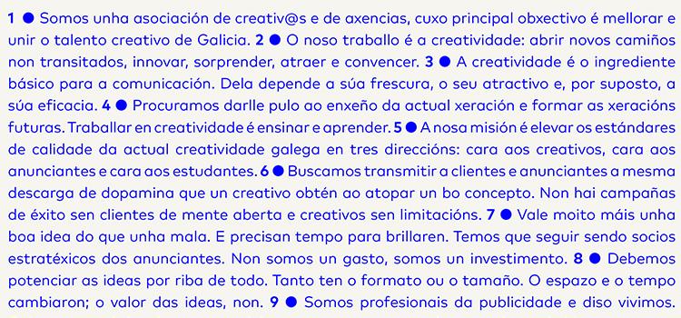 decalogo creatividade galega