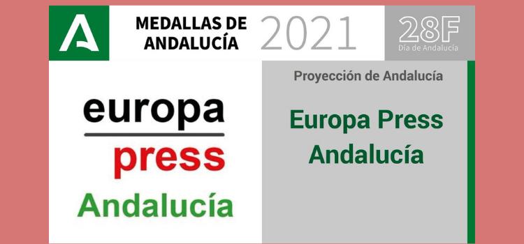 La Agencia Europapress, que suma a más de 70 profesionales en las ocho provincias, ha sido distinguida con una Medalla de Andalucía.