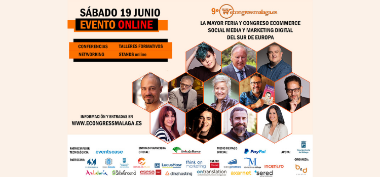 El sábado 19 de junio, en formato 100 % on line, tendrá lugar la novena edición del mayor congreso ecommerce y de marketing digital del sur de Europa.