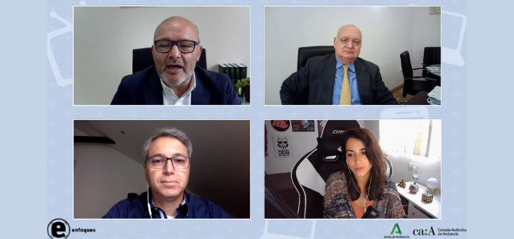 Ha comenzado a rodar el nuevo foro de debate 'Enfoques' del Consejo Audiovisual de Andalucía (CAA). 'Y tú, ¿Cómo te informas? Periodismo vs. Periodismo'.